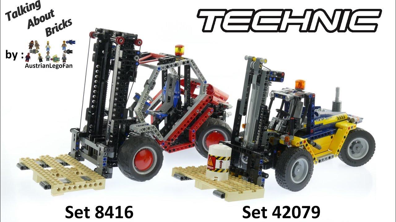 Lego Technic Gabelstapler Set 8416 Gegen 42079 Youtube