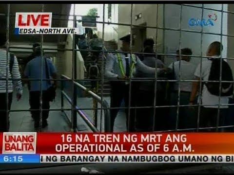 UB: 16 na tren ng MRT ang operational as of 6 a.m.