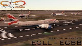 [Infinite Flight] Boeing 747-400 | EGLL - EGBB | British Airways | Full Flight ᴴᴰ