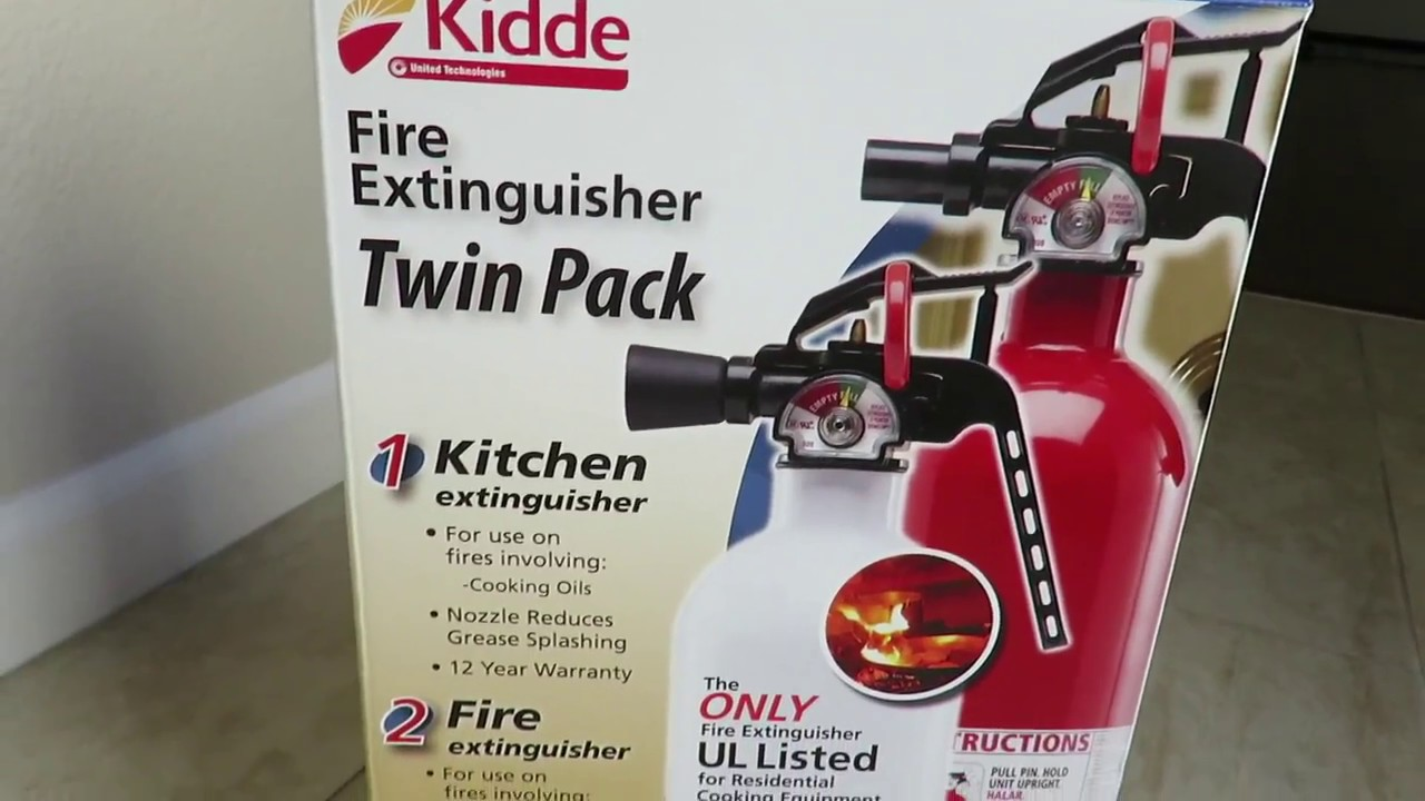kidde kitchen fire extinguisher carpet twin pack unboxing review youtube