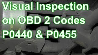 How To Diagnose Codes P0440 Or P0455 Using Visual Inspection