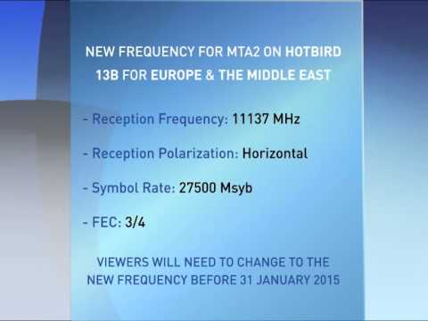 Satellite Frequency details - European & Middle Eastern Viewers