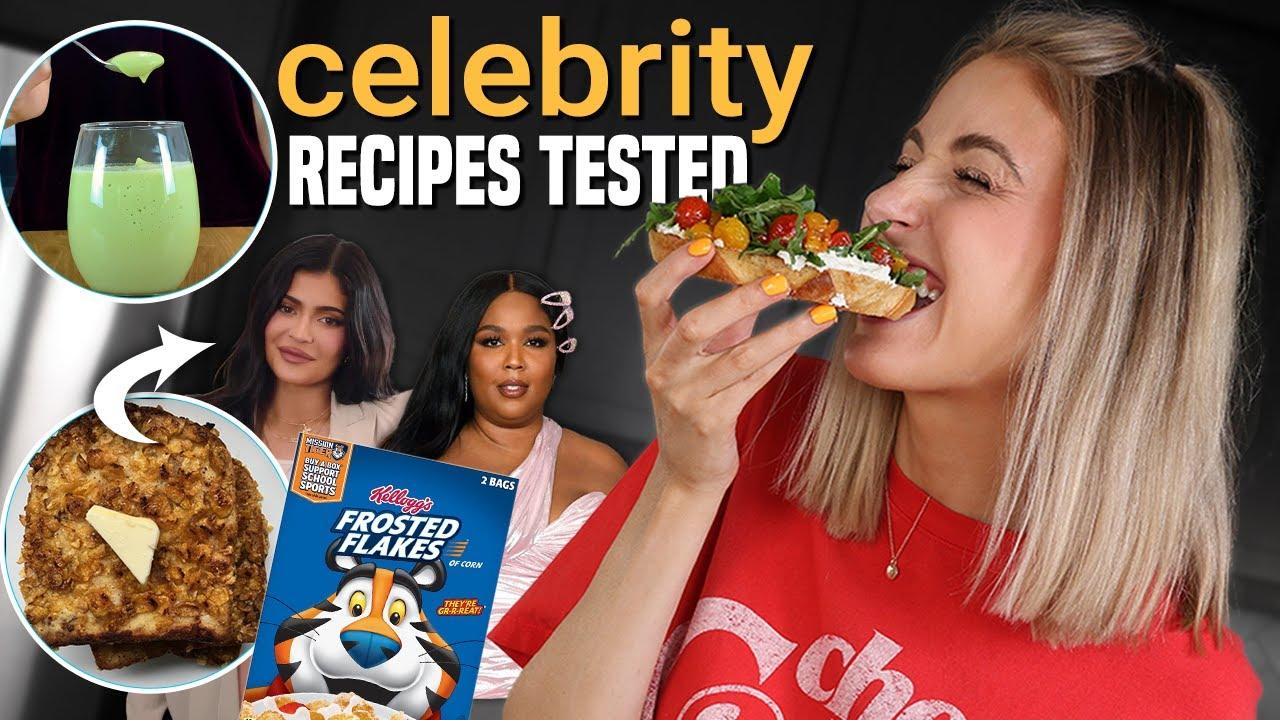 Download Testing POPULAR CELEBRITY RECIPES... were they any good?? *lizzo, kylie jenner, kourtney kardashian