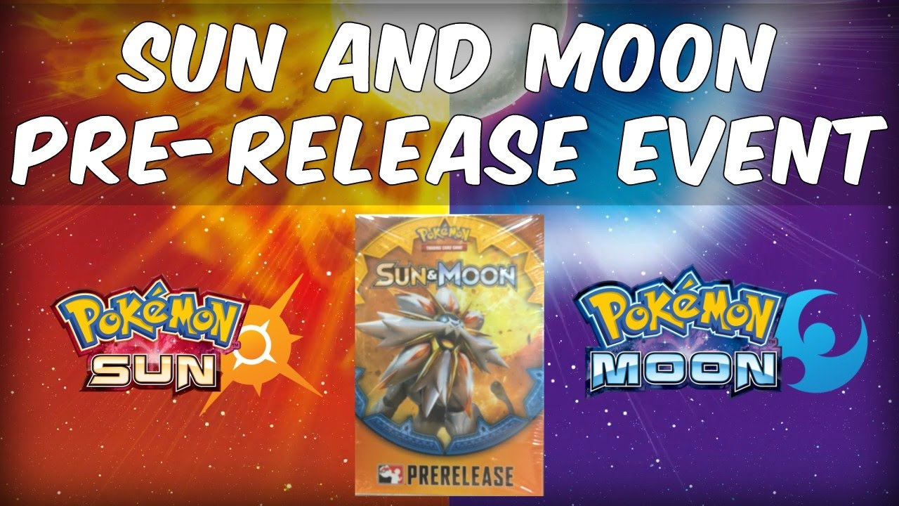 pokemon sun and moon pre release event box opening youtube