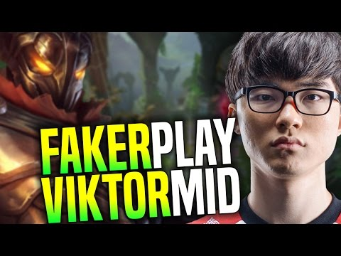 Faker Plays Viktor Mid! - SKT T1 Faker Playing Viktor Midlane In Challenger Korea | SKT T1 Replays