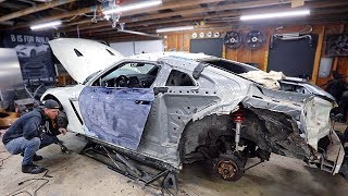"Fixing the ""New"" Door and Prepping the Wide Body Kit for Paint On my Budget Totalled Salvaged GTR"