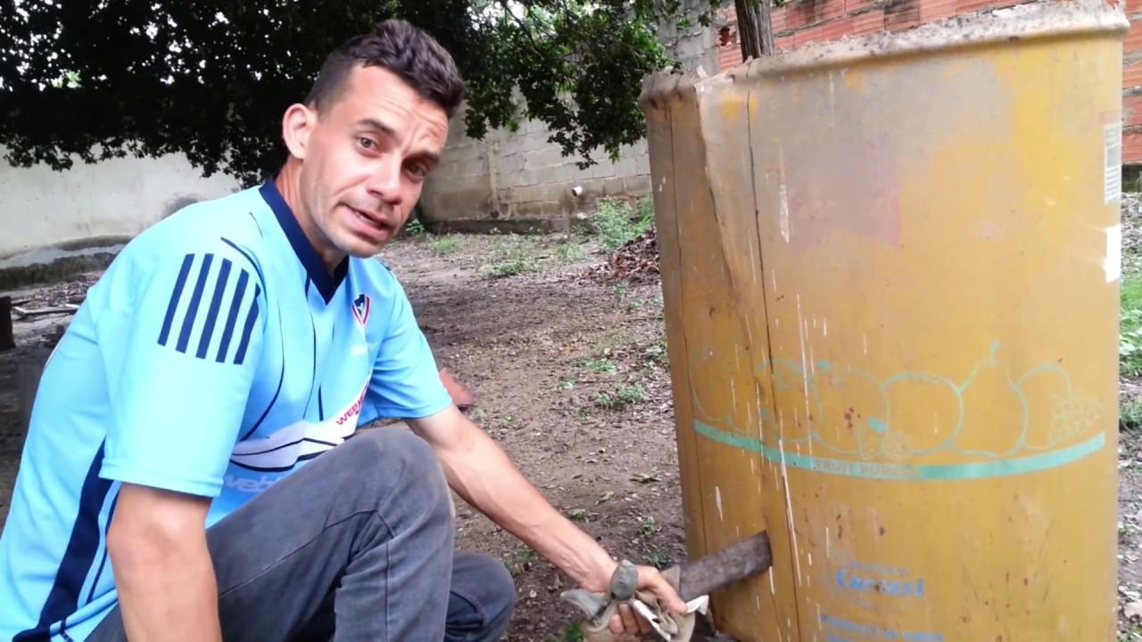 Como hacer un criadero de lombriz con un barril de metal for Como hacer un criadero de cachamas