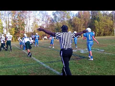 Kiser vs. Mendenhall Middle School Football on 11/1/17