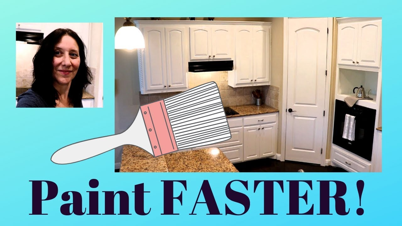 How To Paint Kitchen Cabinets No Sanding Youtube