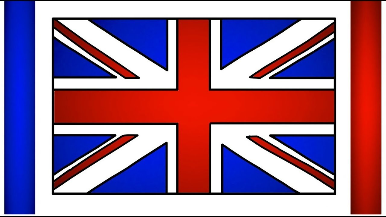 Great Britain Flag Drawing UK Flag Draw United Kingdom ...