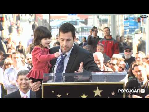 Adam Sandler's Daughters Steal the  at His Star Ceremony