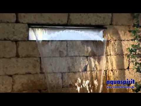 aquafall toller edelstahl wasserfall von aquaspirit youtube. Black Bedroom Furniture Sets. Home Design Ideas