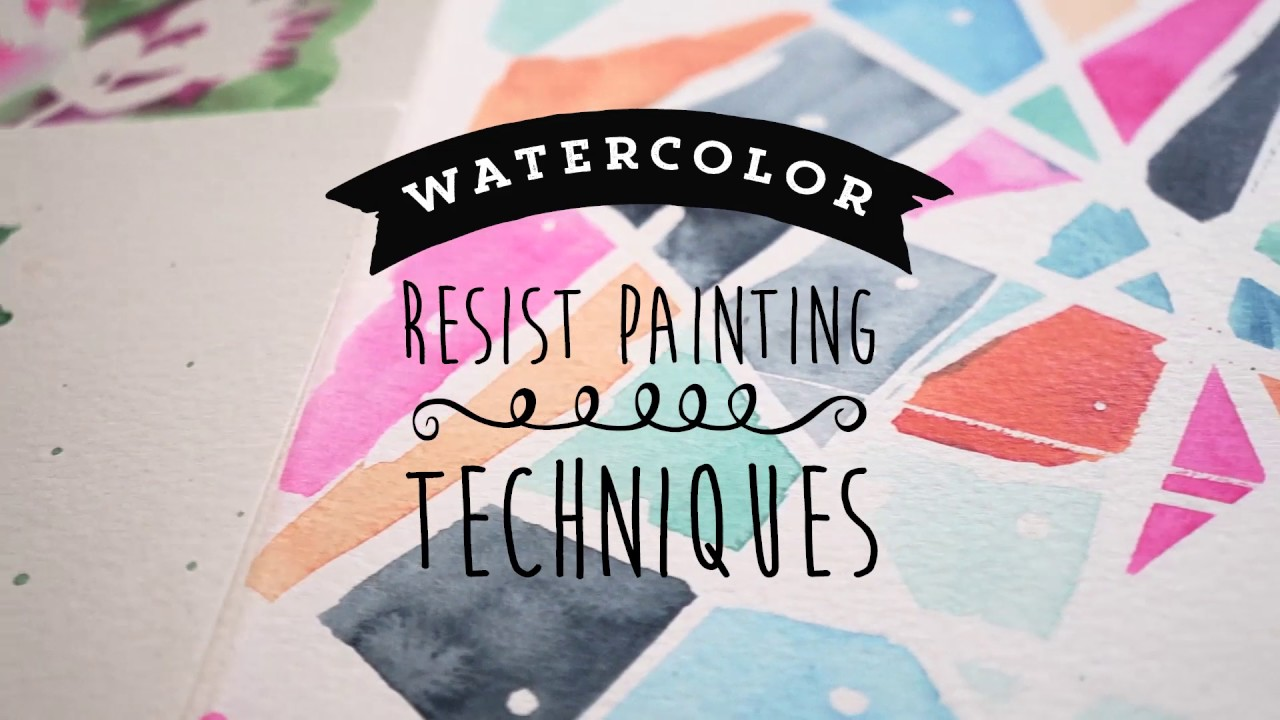 watercolor resist painting techniques youtube
