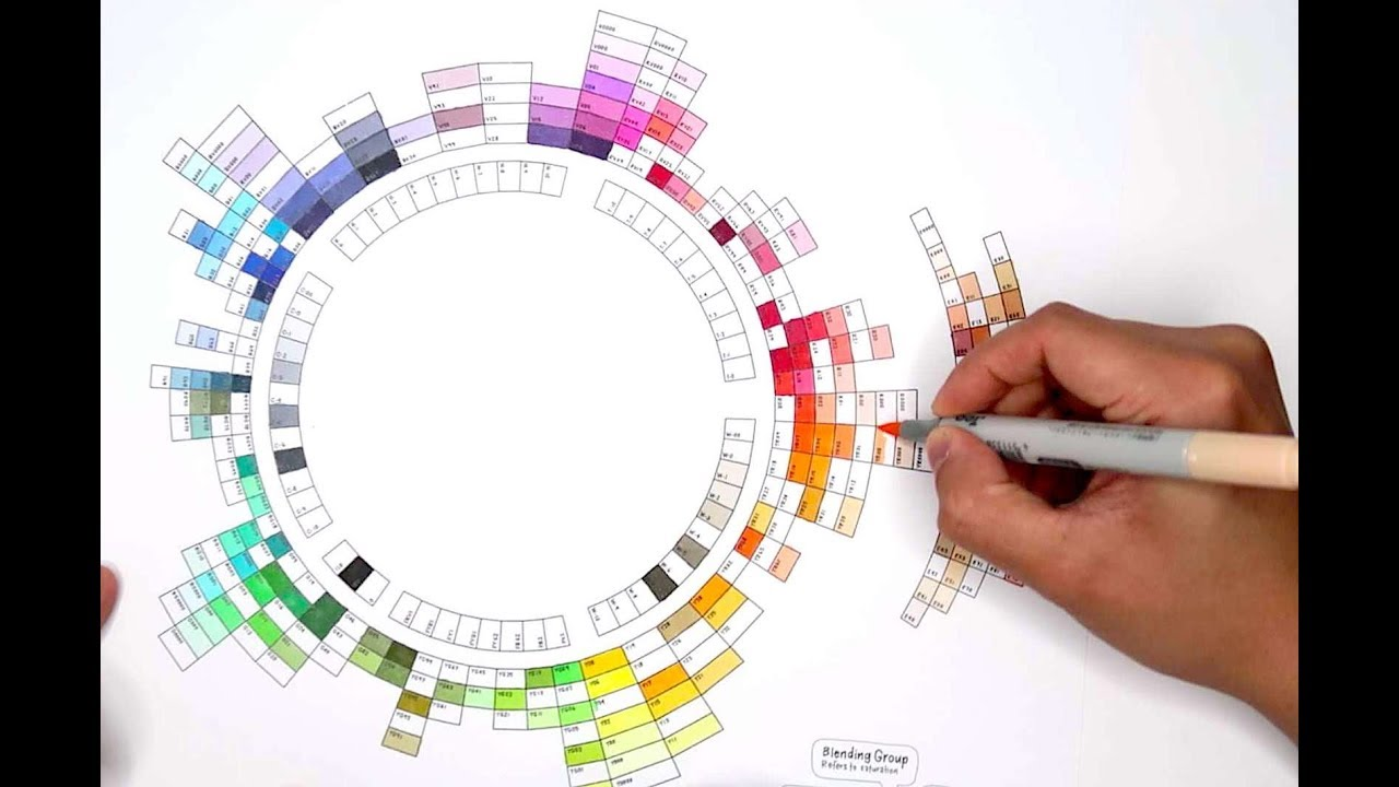 Coloring Copic Wheel Chart All 180 Colors Of Copic Ciao Markers