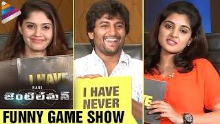Nani Funny Game with Surabhi and Nivetha Thomas | Gentleman Movie | #Gentleman | Telugu Filmnagar