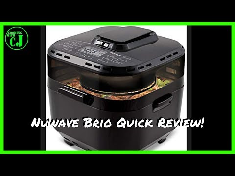 Nuwave Brio 10 Quart Air Fryer Quick Review and First Cook!