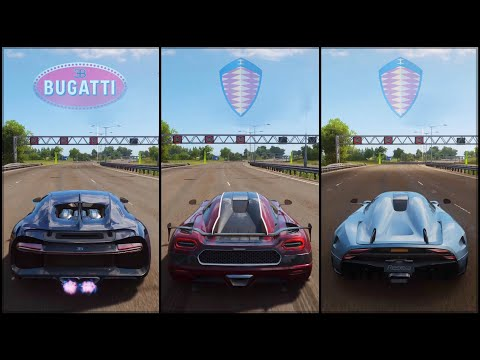 Forza Horizon 4 | Chiron vs Agera RS vs Regera | The Ultimate Hypercar Battle!
