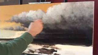 Time Lapse Speed Painting Storm Cloud Artwork by Tim Gagnon www.timgagnon.com