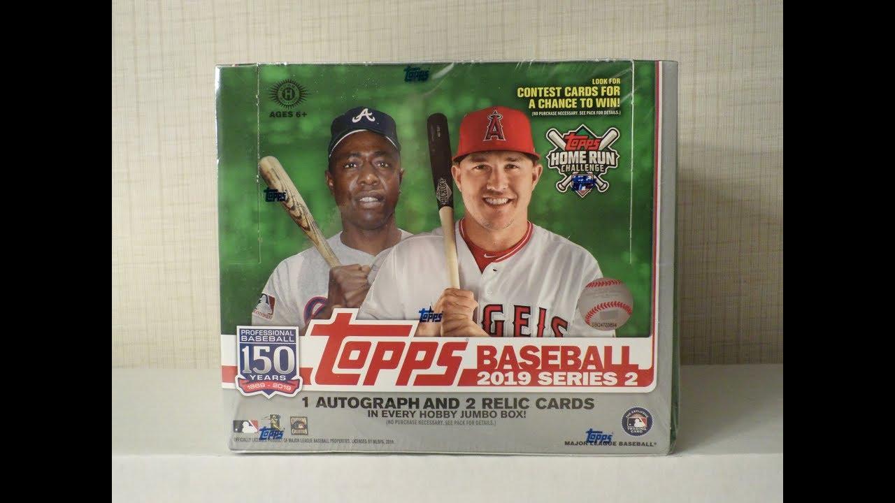 2019 Topps Series 2 Baseball Cards Unboxing Jumbo Hobby Box 4 Hits New
