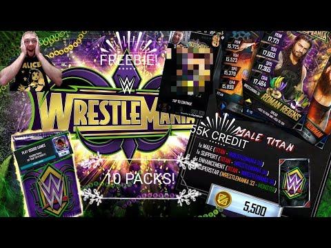 55K WM34 PACK OPENING! FREEBIE! 100K FEMALE LADDER! WWE Supercard S4