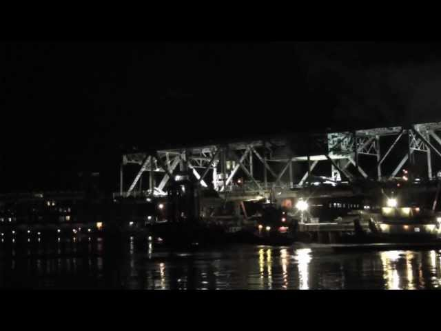 Time Lapse Memorial Bridge Float Out Travel Video