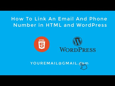 How To Link An Email And Phone Number In HTML And WordPress (2019)