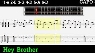 AVICII   HEY BROTHER FINGERSTYLE GUITAR PRO TAB+PDF TAB1