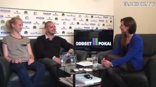 Talk mit Jasko Mahmutovic (Trainer HSV, U17 B-Juniorinnen) und Sylvana Kempka (HSV, U17)