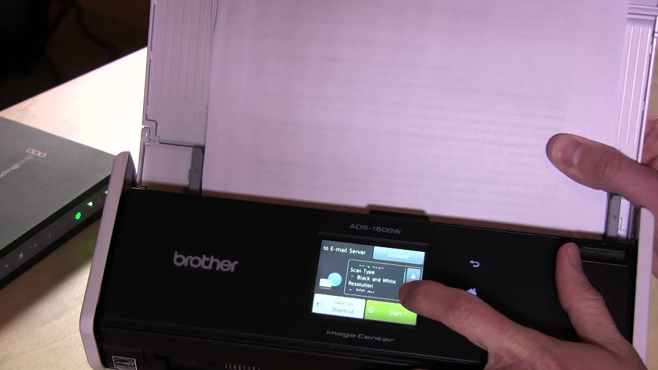 brother ads1500w pact color desktop duplex scanner review youtube