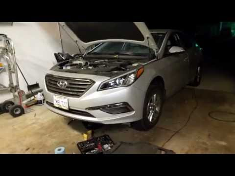 2015 Hyundai Sonata Eco (1.6L turbo) oil change information