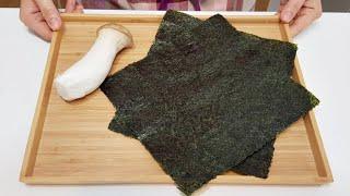 素食家常菜料理│海苔這樣做太好吃了,加一條條杏鮑菇,不用蒸不用炸,簡單美味又營養 │Vegan Recipe │EP171