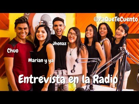 ENTREVISTA EN LA RADIO Ft Jhonaz Chuo y Marian y Ya en PaQueTeCuento  Mariale Matute