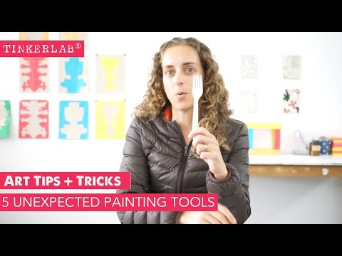 Art Tips and Tricks: 5 Non-traditional Painting Tools