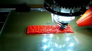 Stampa 3D Della Targa. Il Cono Per La Ventola Contribuisce
