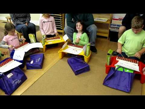 Young Child 2 Pleasant Hills Montessori School 2011 Mouse Mousie on Glockenspiels.MOV