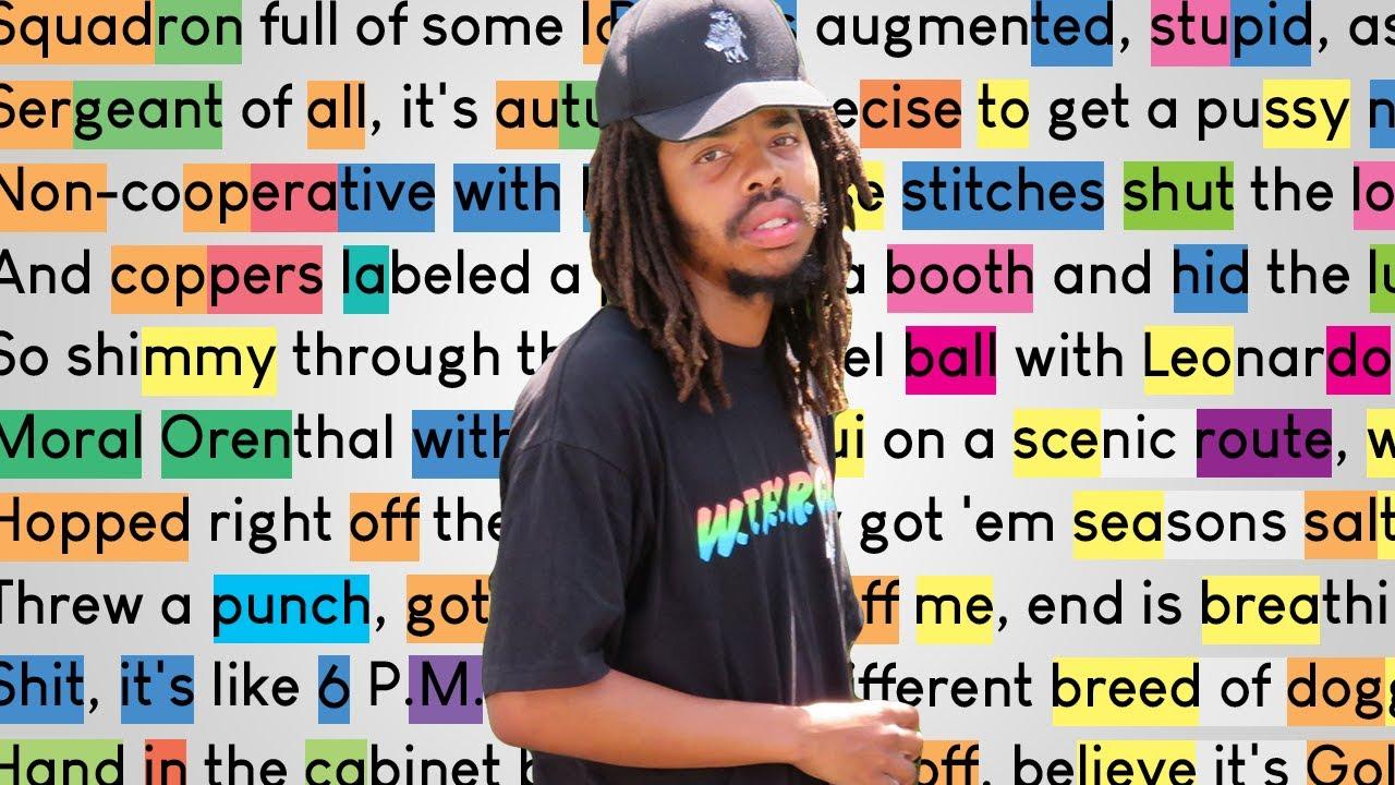 Earl Sweatshirt - Sasquatch   Rhymes Highlighted