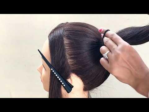 High Bun Hairstyle || Easy Bun For Young Girls thumbnail