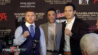 Canelo Alvarez vs. Julio Cesar Chavez Jr. FULL Houston Press Conference & Face Off Video