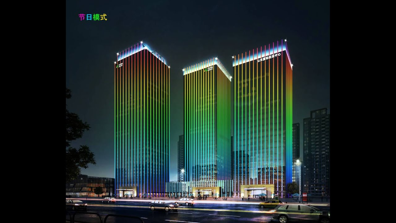 Project Design Video Display Whole Building Lighting By
