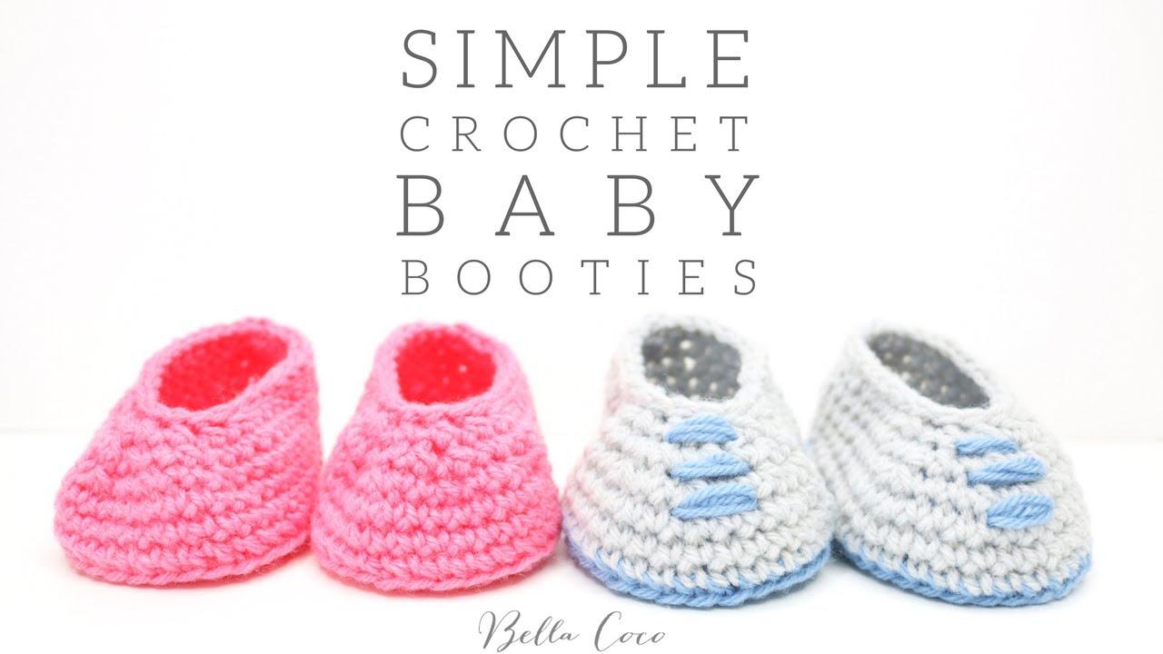 4d110332384c CROCHET  Simple Baby Booties