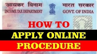 how to apply for pan card online 2015 ( in hindi )