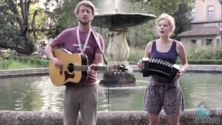 Excellent Folk Male and Female Guitar Duo For Hire South West - Harbottle and Jonas