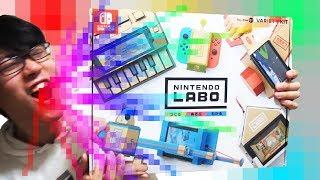 究極の紙シンセ!!?ニンテンドーラボで楽しく遊びながらレビュー Let's enjoy Nintendo Labo thumbnail