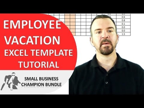 Vacation Planner Excel Template - Employee Vacations