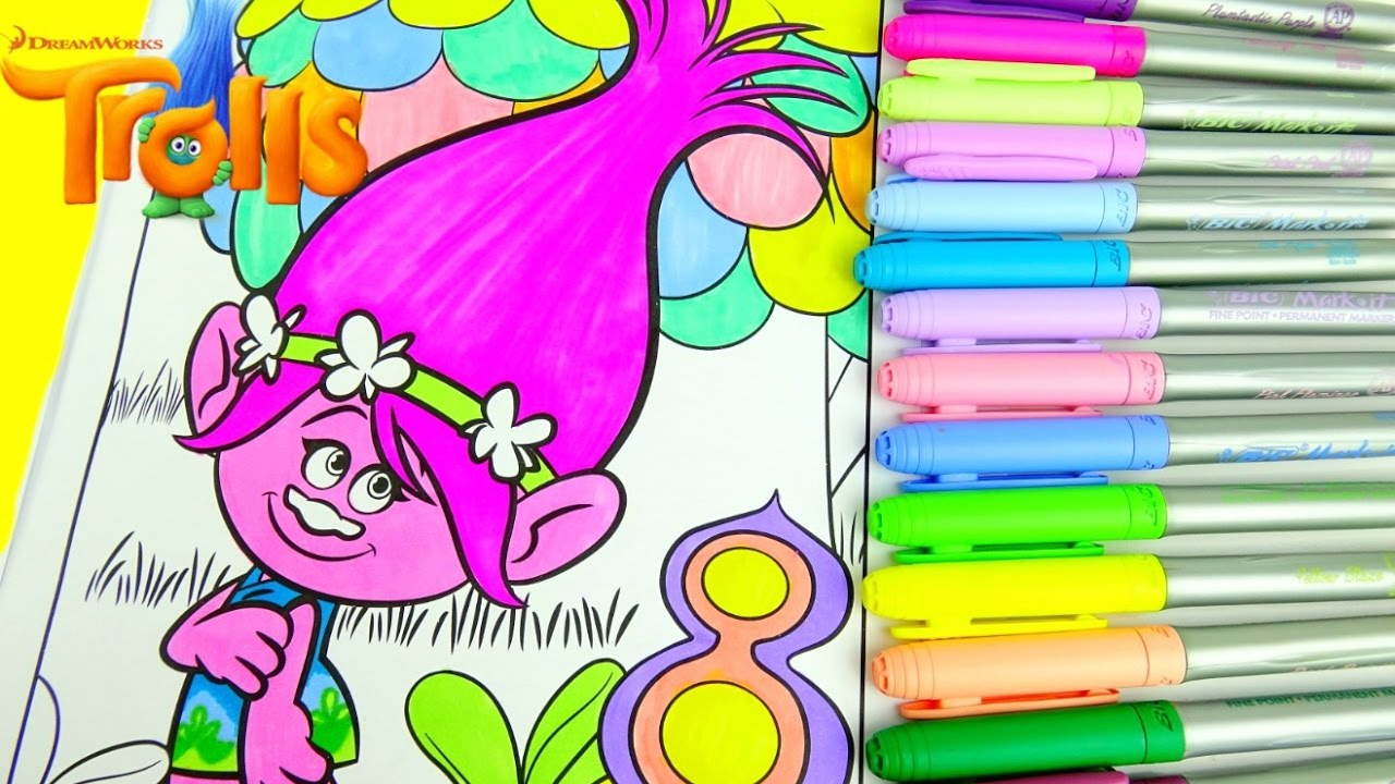 DreamWorks TROLLS Color POPPY with CRAYOLA Coloring and Activity Pad ...