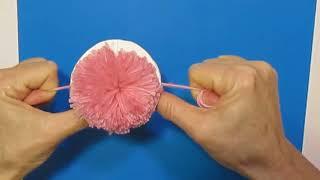 Лучший Способ Сделать ПОМ-ПОН (бубон) из ниток  пряжи своими руками за 5 минут