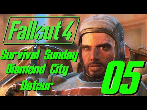 Fallout 4 Survival Sunday - 05 - Diamond City Detour