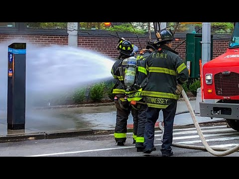 Major Transformer Fire at Mt. Sinai Hospital; Heavy Smoke | Manhattan All-Hands Box 1265 |