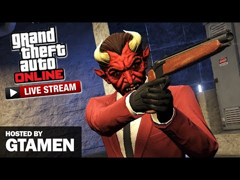 GTA Online Bunker Adversary Modes LIVESTREAM (with Gtamen)