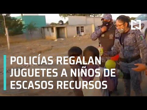 Policías reparten juguetes a niños de escasos recursos por el día de Los Reyes Magos - En Punto